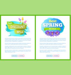 Best spring big sale advertisement label crocus vector