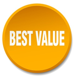 Best value orange round flat isolated push button vector