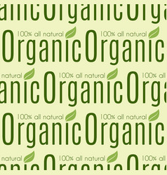 Bio farm organic eco healthy food seamless pattern vector