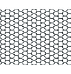 Black hexagon mesh on white background design vector