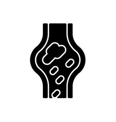 blood clots black glyph icon vector image