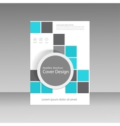 Book cover layout design Abstract flyer templates vector image