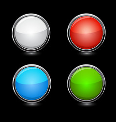 Buttons elements round vector