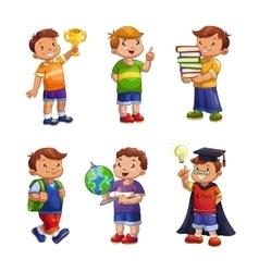 Cartoon happy children set vector image