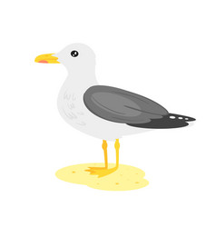Cartoon style seagull vector