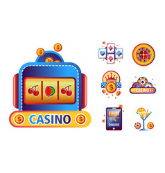 casino poker logo templates playing cards vector image
