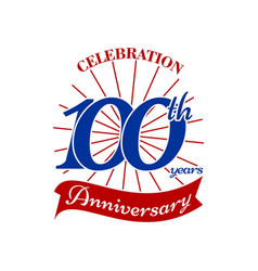 Celebrating 100 th years vector