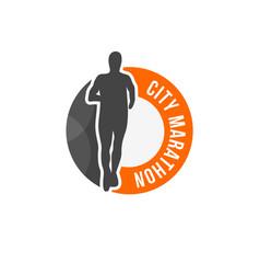 city marathon logo vector image