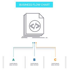 Code coding file programming script business flow vector