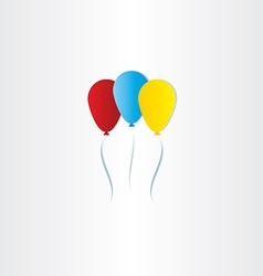 Color balloons celebration symbol vector