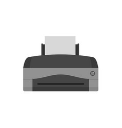 Color home printer icon flat style vector