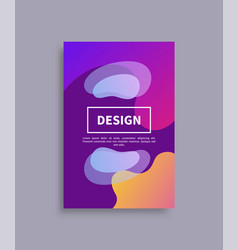 Design cover and text sample vector