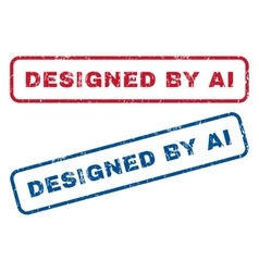 Designed by ai rubber stamps vector