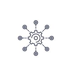 Development software integration line icon vector