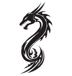 Dragon tattoo vintage engraving vector