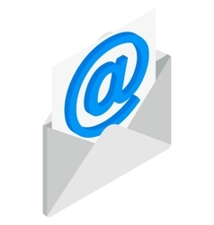 Email icon isometric 3d style vector