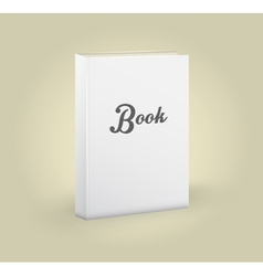 Front view of blank book vector