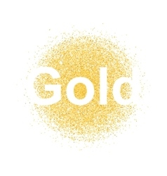 Gold particles background vector