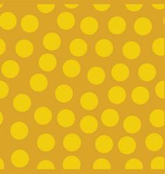 golden random polka dots background pattern vector image