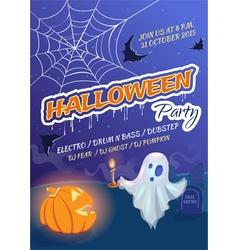 Halloween party flyer template vector