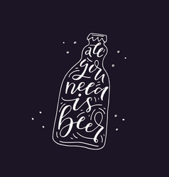 Hand drawn beer vector
