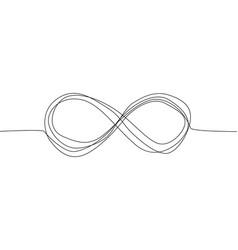 Infinity eternity symbol in variations set design vector