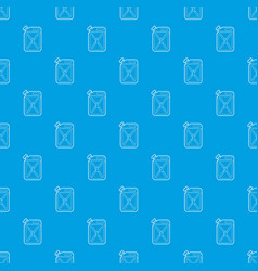 jerrycan pattern seamless blue vector image