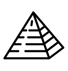 Jewish pyramide icon outline style vector