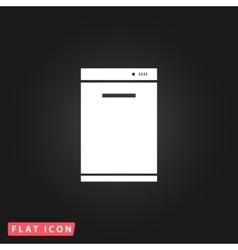 Kitchen - Dishwasher icon vector image