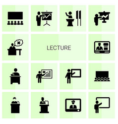 lecture icons vector image