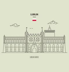 Lublin castle in vector