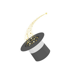 Magic hat wand with sparkles vector