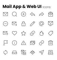 mail app and web ui icons vector image