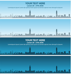 manchester skyline event banner vector image