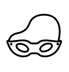 Mask party line style icon vector