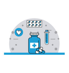 medical stuff and elements vector image