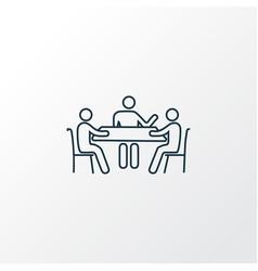 meeting icon line symbol premium quality isolated vector image