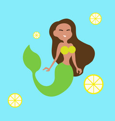 Mermaid girl vector