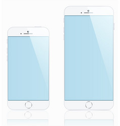 Mockups demo iphones 6 and 5 for your purposes vector