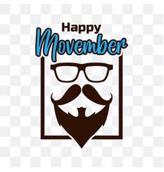 Movember international mens day vector
