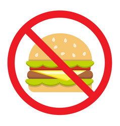 no fastfood flat icon fitness and sport vector image