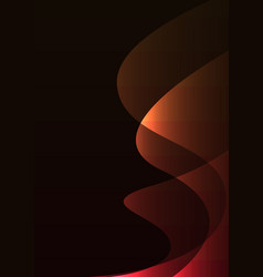 Orange red line curve transparent layer abstract vector