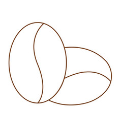 outline coffee symbol vector image