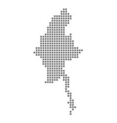 pixel map of myanmar dotted map of myanmar vector image
