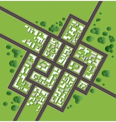 Plan city vector