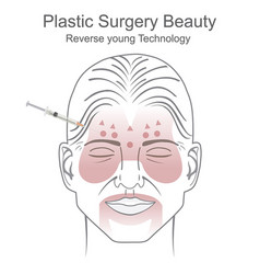 Plastic surgery beauty vector