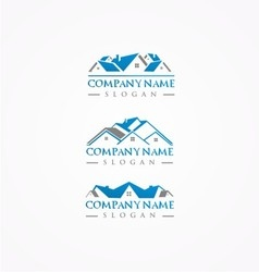 Real estate logohome bundle logoroof logo vector