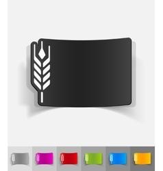 Realistic design element barley vector