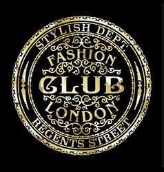 regents street london fashion club vector image