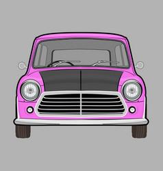 Retro classic car mini cooper mr beans vector